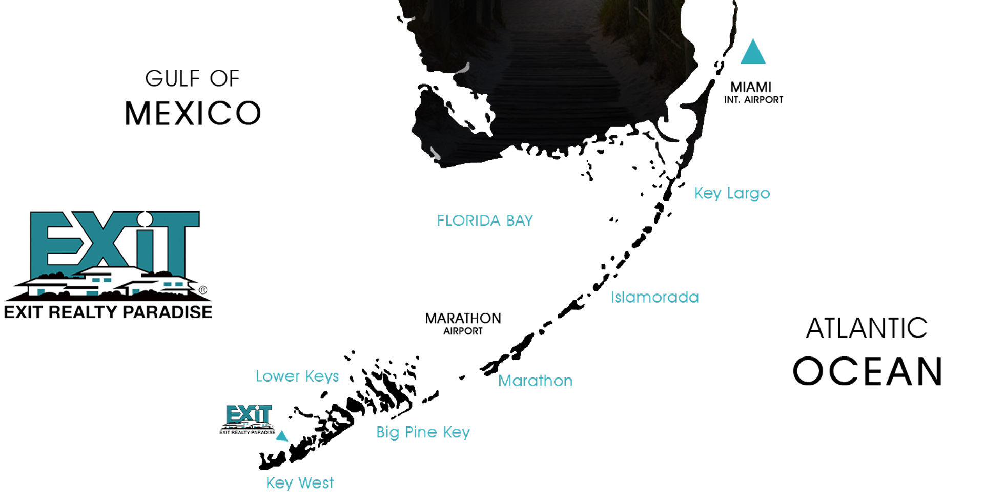 EXIT Realty Paradise Map of the Florida Keys